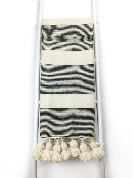 Lalla Pom Pom Throw Blanket - Heddle & Lamm