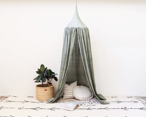 Kids Bed Canopy - Sage Green