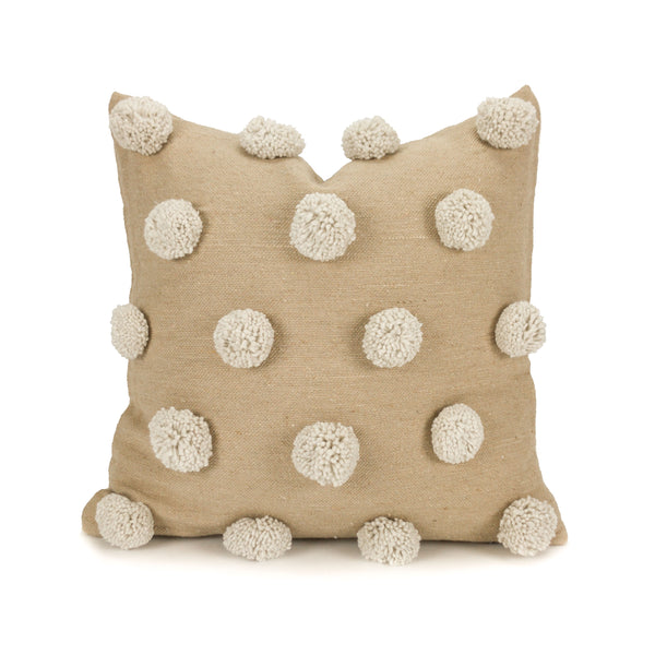 Ziri Pillow Cover - Neutral and Ivory - Heddle & Lamm
