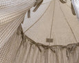 Kids Bed Canopy - Ivory Windowpane Pattern - Heddle & Lamm