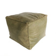 Aryn Leather Moroccan Kids Pouf featured by top sustainable home decor store, Heddle and Lamm