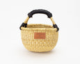 Kandiga Mini Bolga Basket - Black Handle - Heddle & Lamm