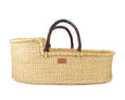 Pelu Moses Basket - Dark Brown Handle - Heddle & Lamm