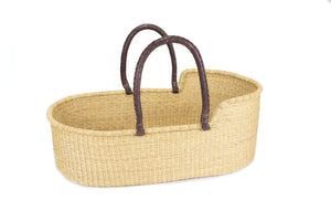 Pelu Moses Basket - Dark Brown Handle