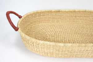 Jojo - Baby Changing Basket - Brown Handle