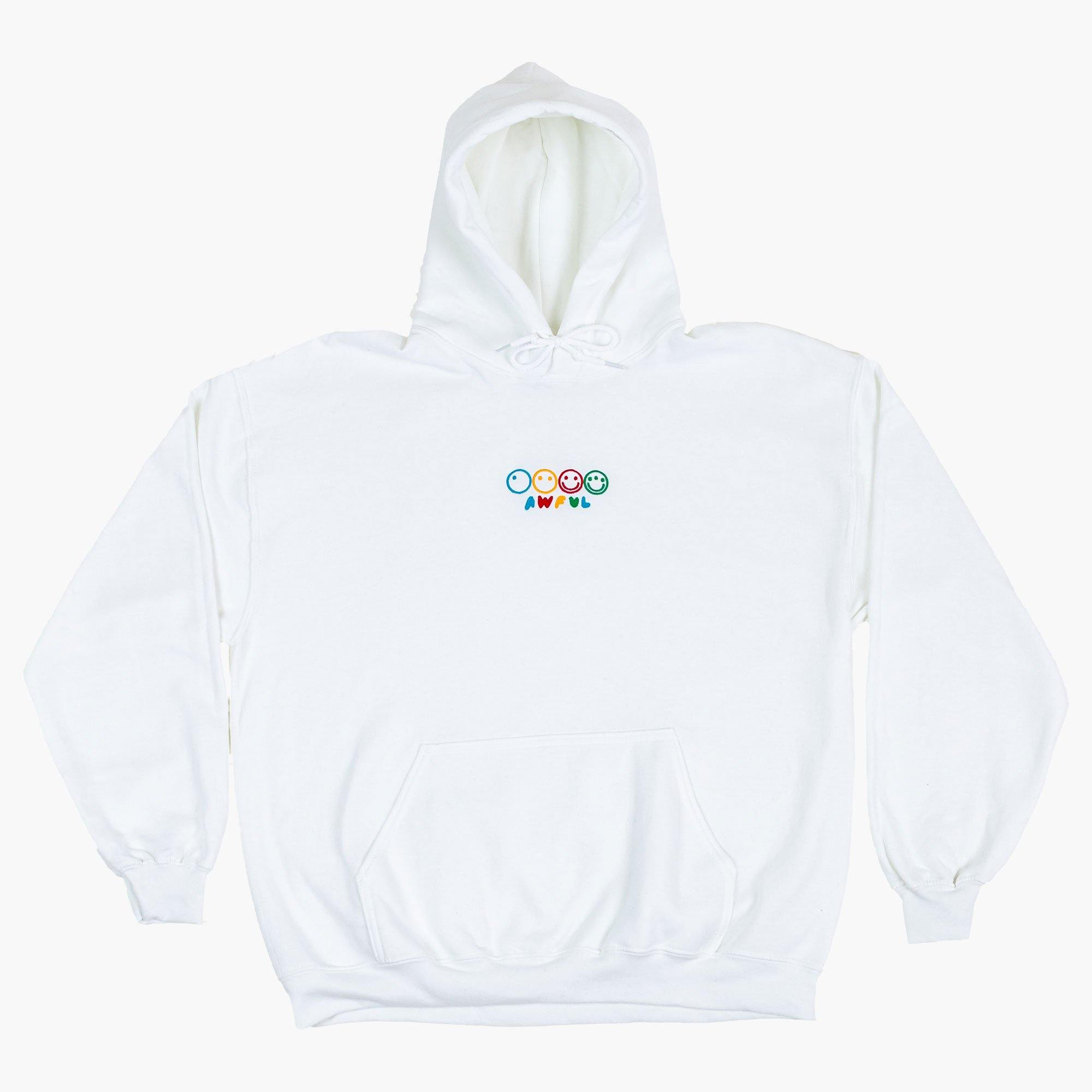 Awfulution Hoodie (Embroidered) White