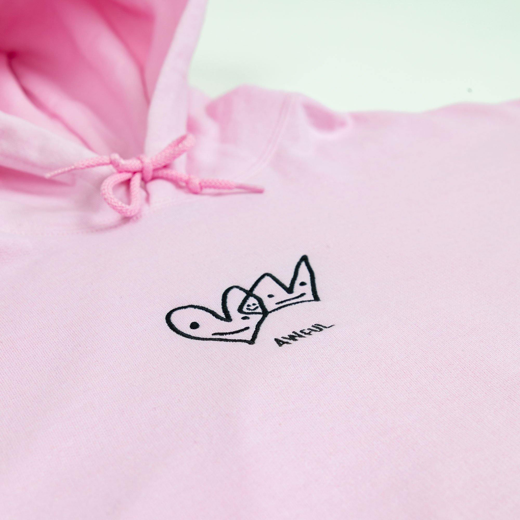 Love is Awful Hoodie Pink