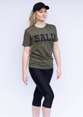 SNAP TEE - ARMY GREEN