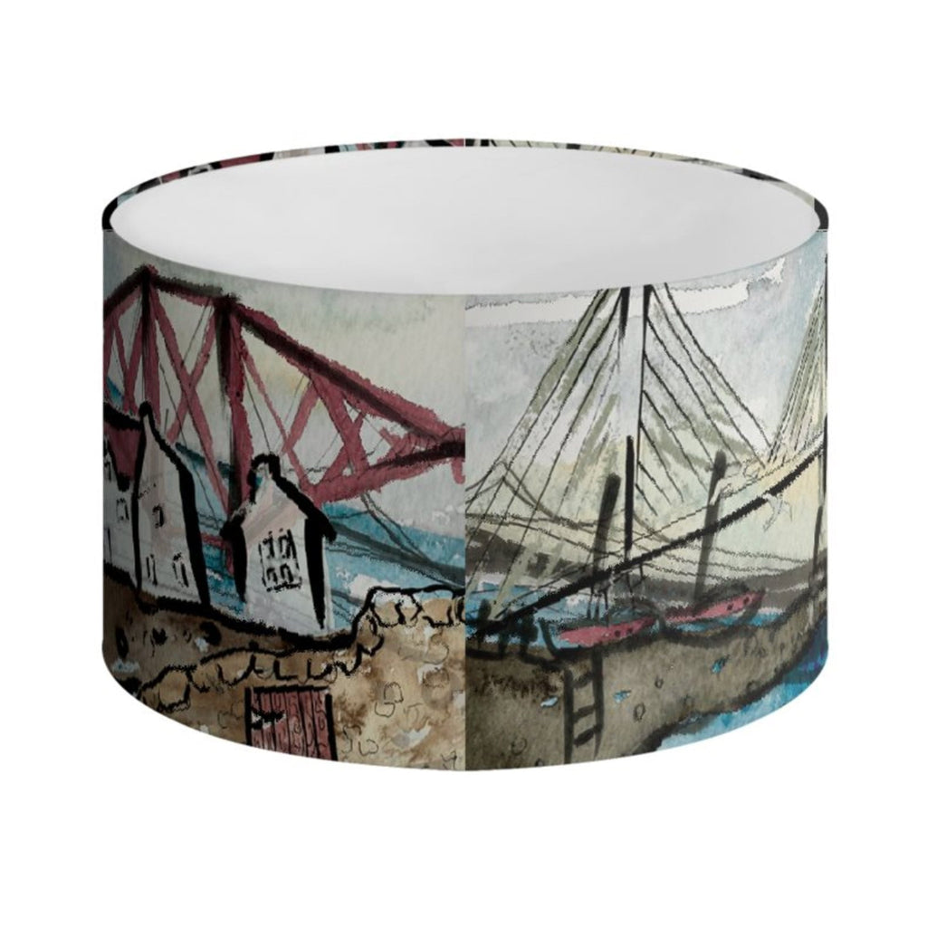Back view of the 3 Bridges Lampshade (shown here in 30cm diameter)