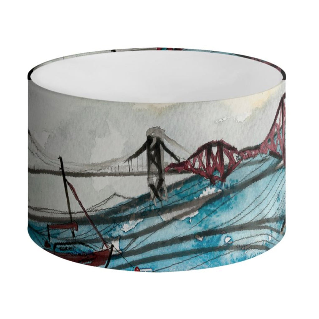 Front view of the 3 Bridges Lampshade (shown here in 30cm diameter)