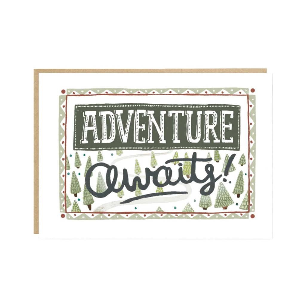 Adventure Awaits greeting card by Jade Fisher
