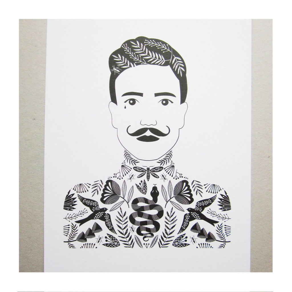 Mustache Man by Maggie Magoo at Harbour Lane