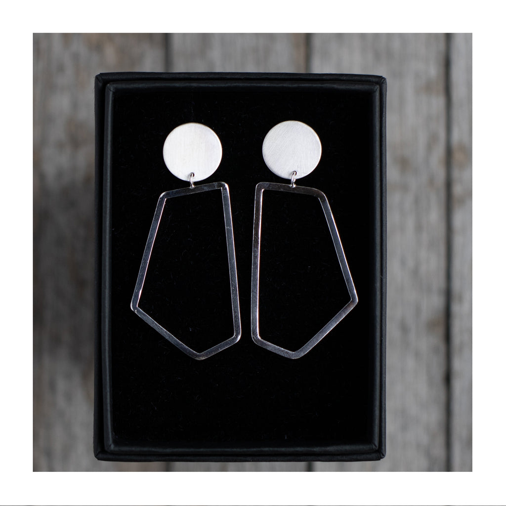 Image of the O/Pentagon Geometric Earrings by Aimi Cairns