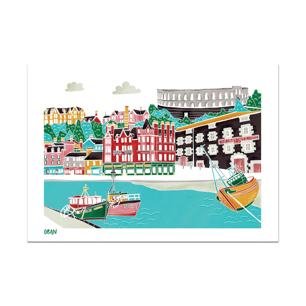 Image of Victoria Rose Ball's Oban print in A4