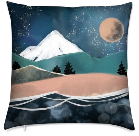 MOUNTAIN Double Sided Square Cushion