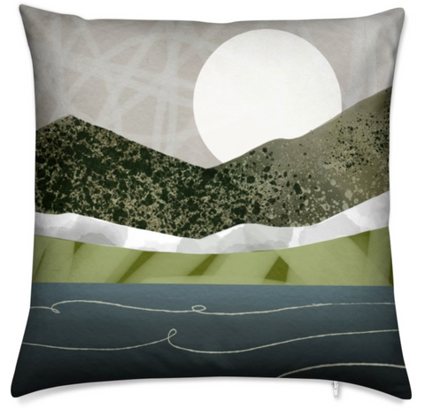LOCH Double Sided Square Cushion