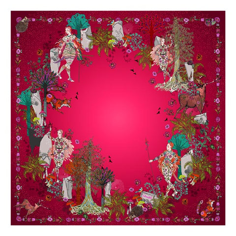 Blood Moon Silk Scarf