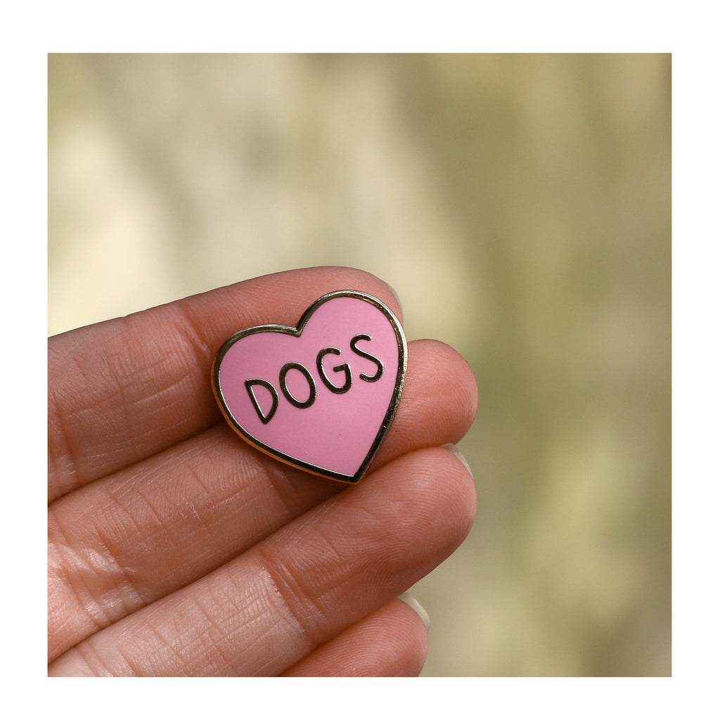 Dogs Heart enamel pin by Claire Paul
