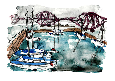 Queensferry Harbour Print
