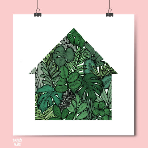 Green House Plants Print