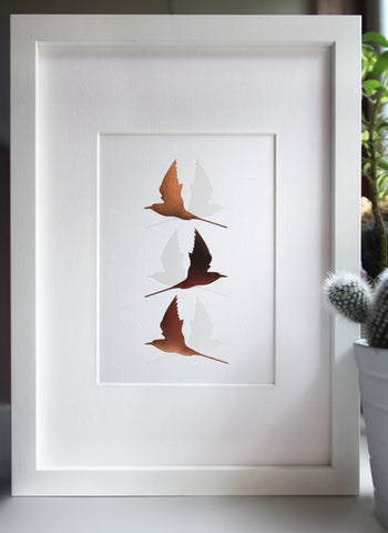 Arctic Terns Letter Press Print