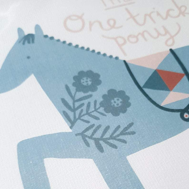 One Trick Pony Print - Harbour Lane Studio