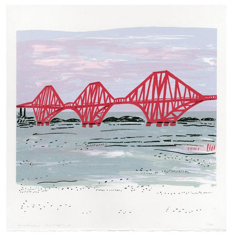 Red Rail Bridge Screen Print