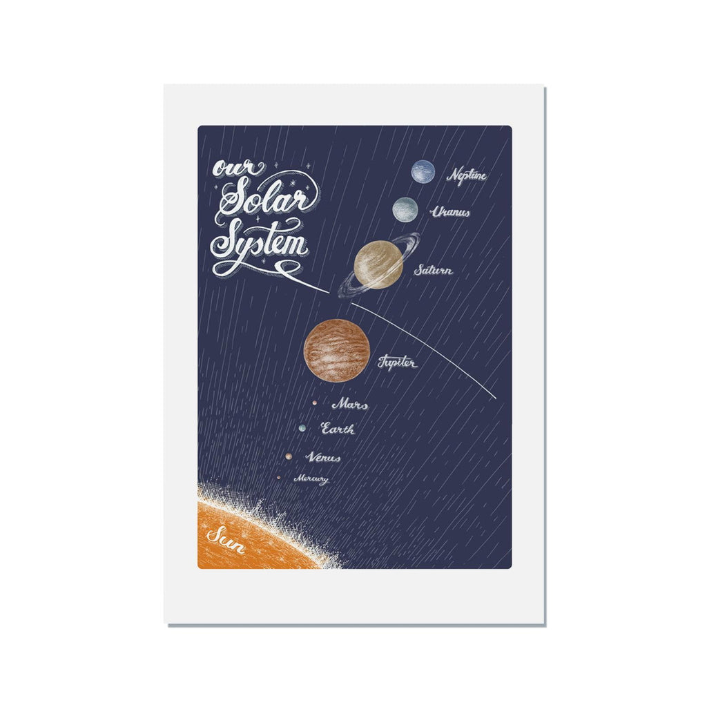 Solar System Print - Harbour Lane Studio
