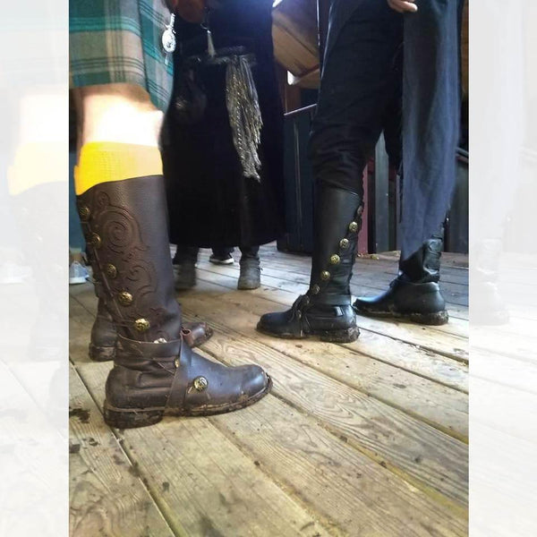 Michigan Ren Faire Aris Archer Black Leather Boots Renaissance