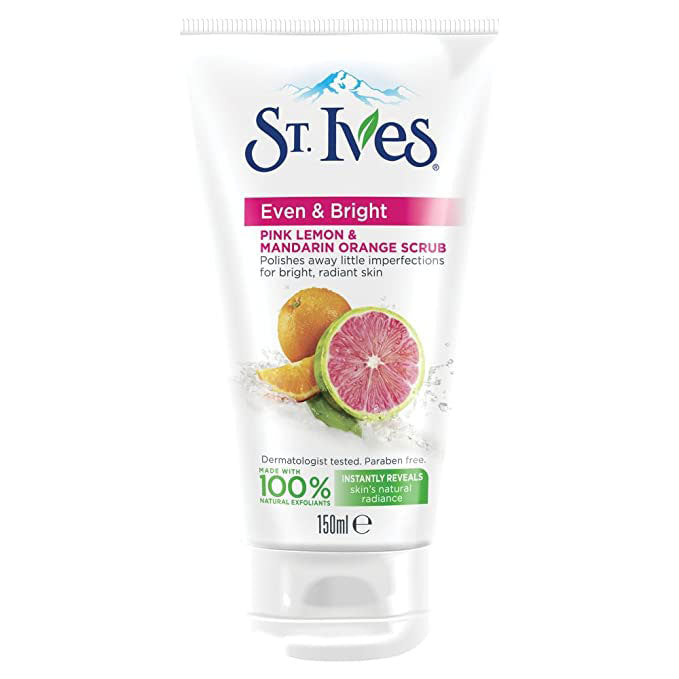 St.Ives - Even & Bright Pink Lemon & Mandarin Orange Scrub Scrub (150ml) (β)