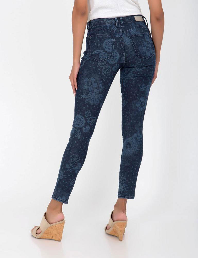 U.S. POLO ASSN. - Stretch Super Skinny Fit Floral Mid Rise Jeans