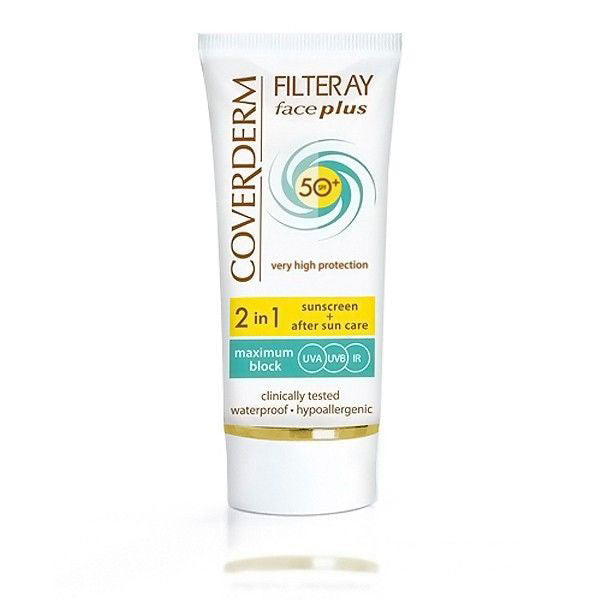 Coverderm - Filteray Face Plus SPF 50 Very High Protection Face Cream For Normal Skin (50Ml) (β)