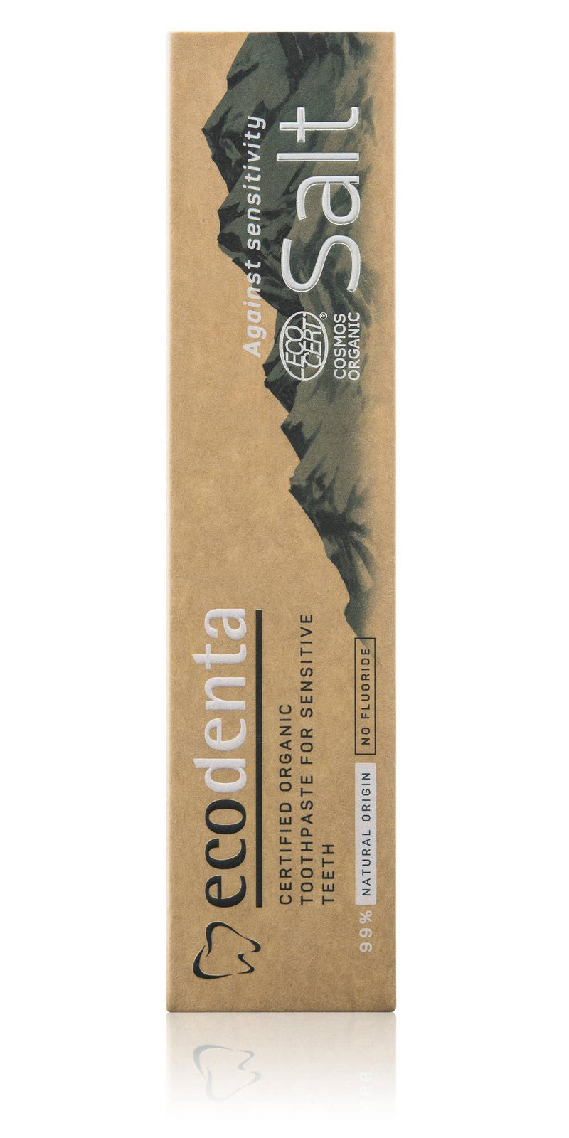 eco denta - Toothpaste With Natural Salt And Potassium (100Ml) 99% Organic (β)