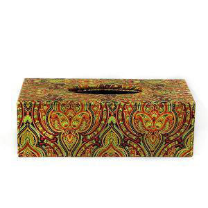AP - Rectangular Tissue Box Leather Colored (β)