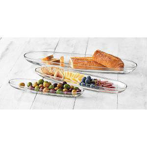 Libbey - Aviva Oval Plates Set of 3 Pieces Glass (β)