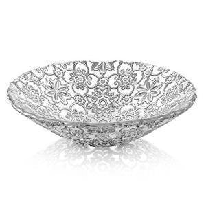IVV - Arabesque Fruit Bowl Centrepiece 25cm Silver (β)