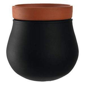 Leonardo - Large Plant Pot Black (β)