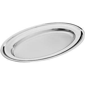 Pintinox - Oval Serving Platter 31x21cm. Stainless Steel (β)