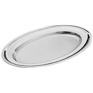 Pintinox - Oval Serving Platter 47x34cm. Stainless Steel (β)