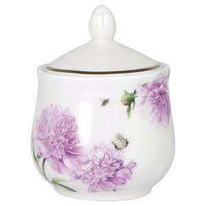 A.S - Peonies Pink Sugar Bowl with Lod (β)