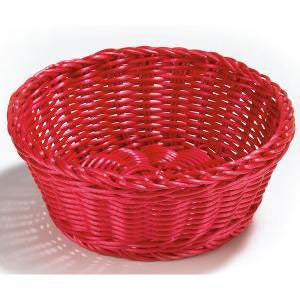 Table Craft - Polycarbonate Round Red Basket 20cm (β)