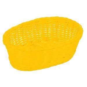 Table Craft - Polycarbonate Oval Yellow Basket 19x14x8cm (β)