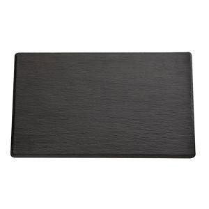 APS - Melamine Platter Flat Black Color 32.5 x 17.5cm (β)