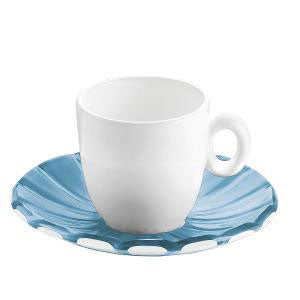 Guzzini - Grace Espresso Cups & Saucers Set of 6 Pieces Blue (β)