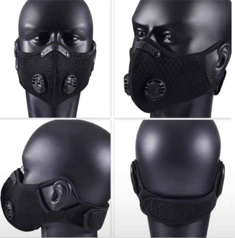 Face Mask - Antibacterial Dustproof Protective Mask (Black) (β)