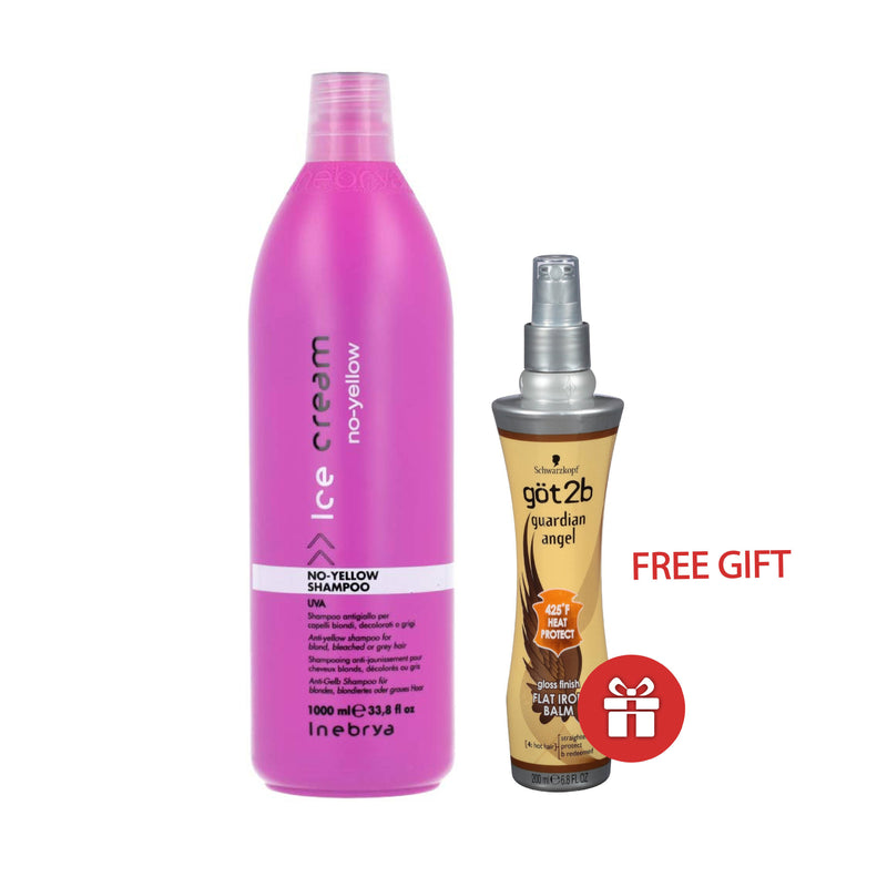 Special Pckage - Ice Cream - No-Yellow Shampoo 1000 Ml AND FREE Got2B - Flat Iron Guardian Angel 200 Ml