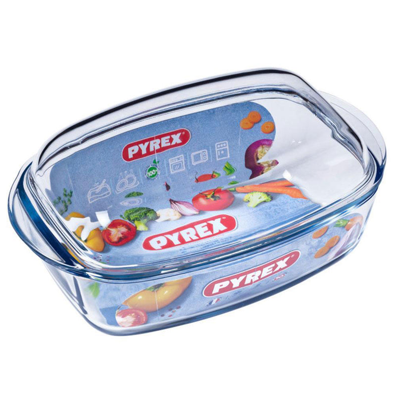 Pyrex - Essentials Oval Casserole With Lid  (4.6 L)