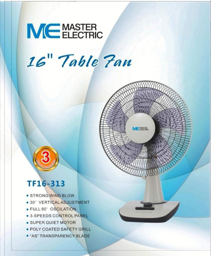 "Master Electric - 16"" Table Fan (50W) (β)"