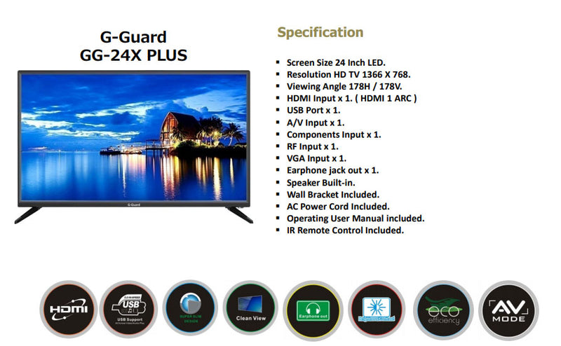 G-Guard - Tv 24 Inch LED