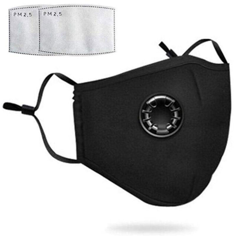 Face Mask - PM2. 5 N95 Black With 3 Filters (β)
